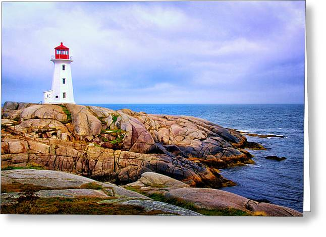 Peggys Cove Lighthouse Greeting Card