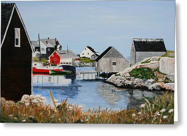 Peggys Cove Nova Scotia Greeting Card by Betty-Anne McDonald