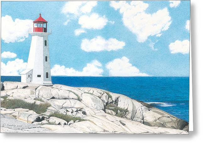 Peggy's Cove Nova Scotia Greeting Card by Wilfrid Barbier