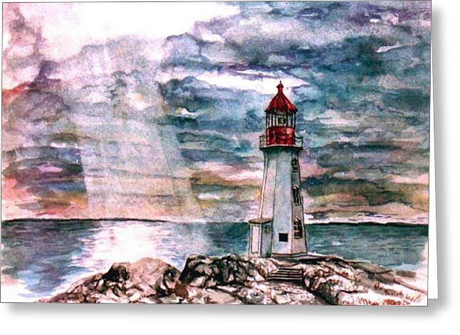 Peggy's Cove Greeting Card by Paul Sandilands