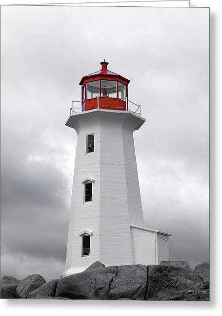 Peggy's Cove Tranquility  Greeting Card by Betsy Knapp