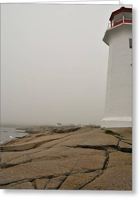 Peggy's Lighthouse Greeting Card by Mark Highfield