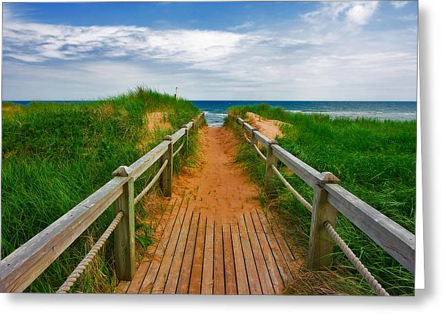 Pei Beach Boardwalk 2 Greeting Card