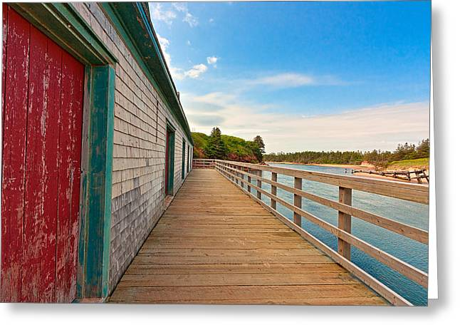 Pei Beach Boardwalk Greeting Card