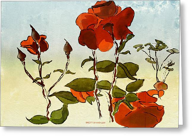 Peka Peka Roses Greeting Card