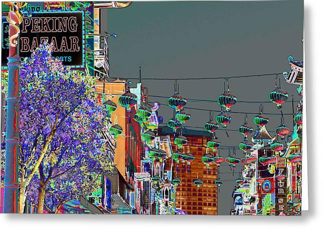 Peking Bazaar Greeting Card