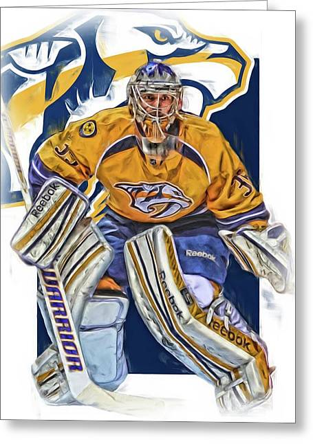 Pekka Rinne Nashville Predators Greeting Card by Joe Hamilton