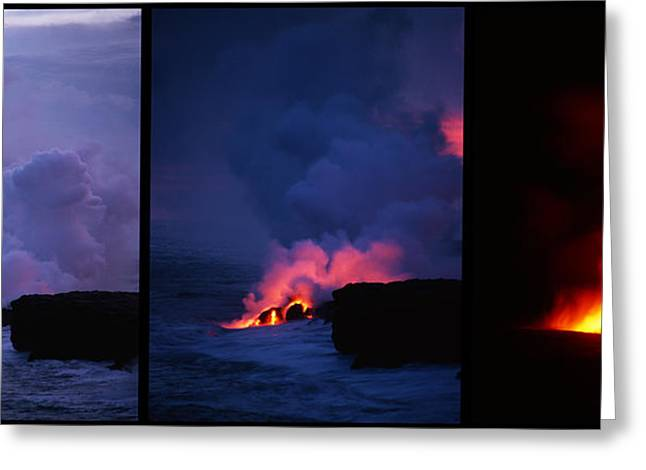 Pele's Breath Series Greeting Card by Gary Cloud