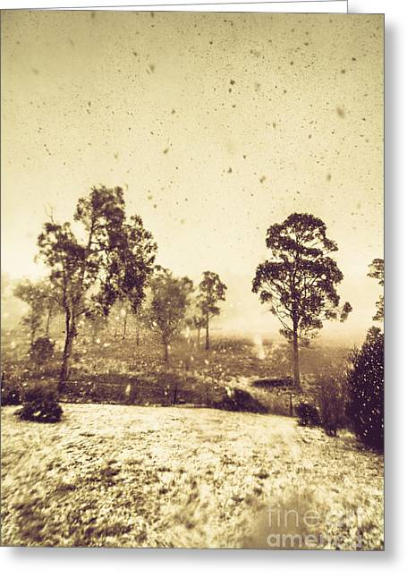 Pelham Snowstorm Greeting Card by Jorgo Photography - Wall Art Gallery