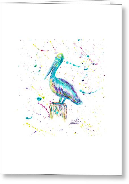 Pelican By Jan Marvin Greeting Card