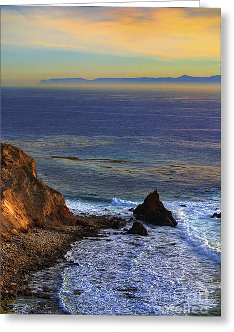 Pelican Cove In Rancho Palos Verdes Greeting Card by K D Graves