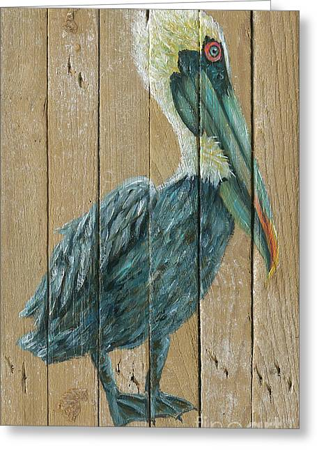 Pelican Greeting Card by Danielle Perry