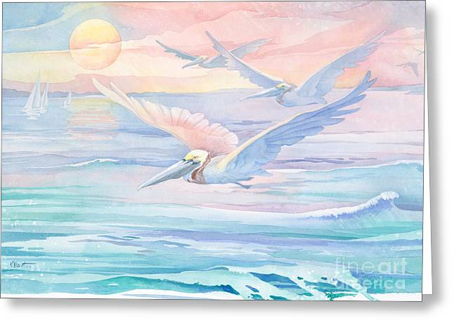 Pelican Flight Greeting Card
