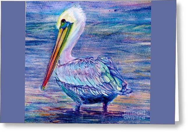 Pelican Gaze Greeting Card