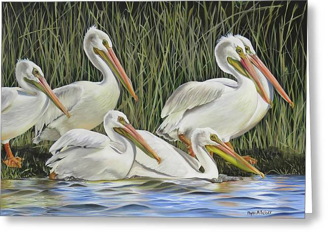 Pelican Parade Greeting Card