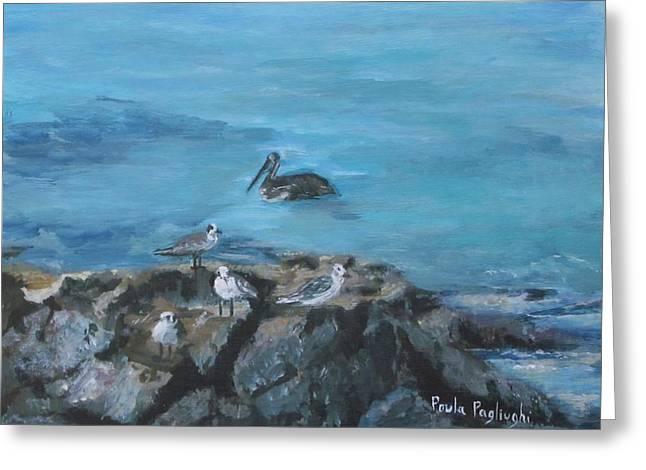 Pelican Patrol Greeting Card