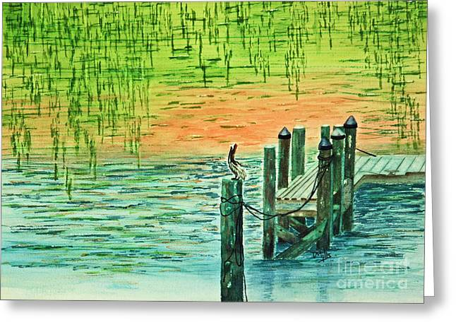Pelican Perch Greeting Card