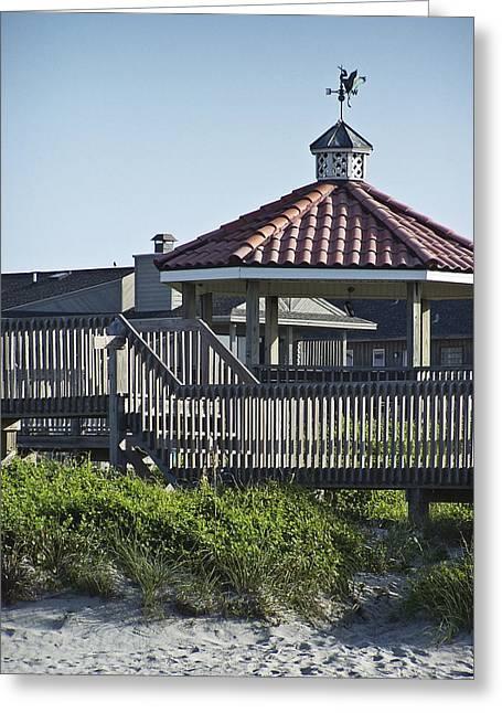 Best Sellers -  - Weathervane Greeting Cards - Pelican Weathervane Ocean Isle Norht Carolina Greeting Card by Teresa Mucha