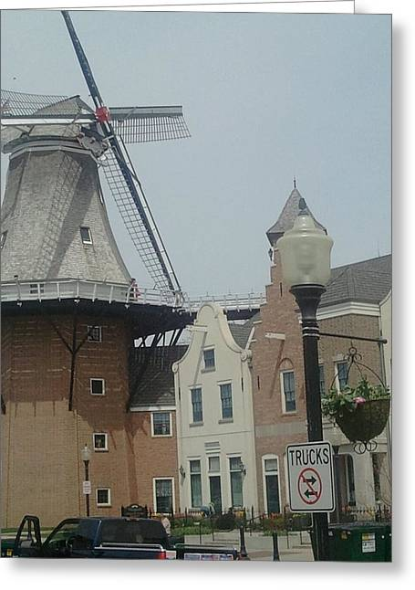 Pella Iowa Windmill Greeting Card