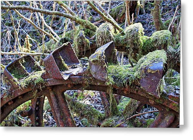 Pelton Water Wheel Detail - Treadwell Mine Greeting Card
