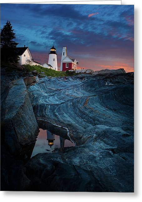 Pemaquid Lighthouse At Dawn Greeting Card