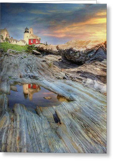 Pemaquid Lighthouse Greeting Card by Lori Deiter