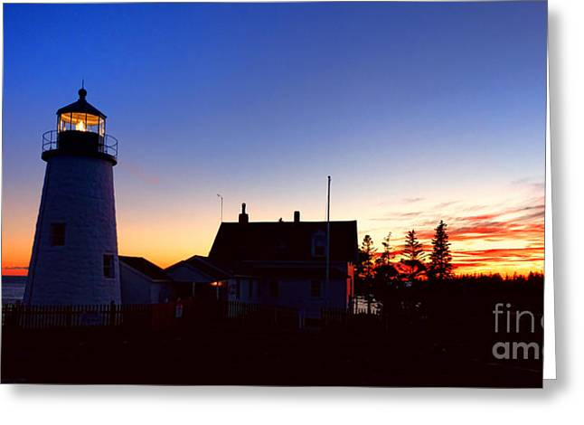 Pemaquid Point Evening Greeting Card