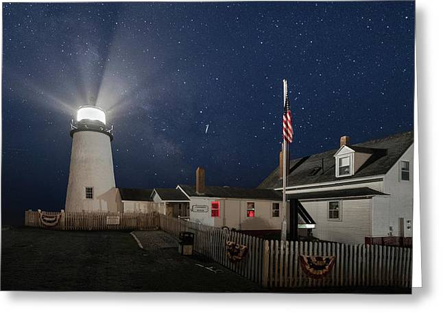 Pemaquid Point Light Flare Greeting Card