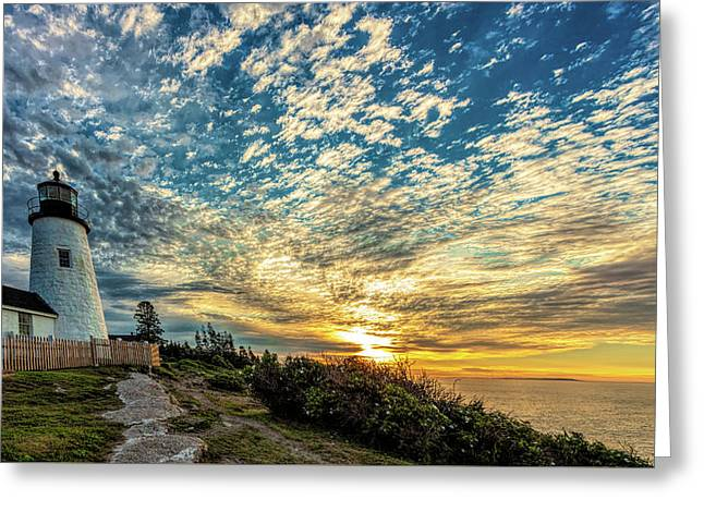 Pemaquid Point Lighthouse At Daybreak Greeting Card