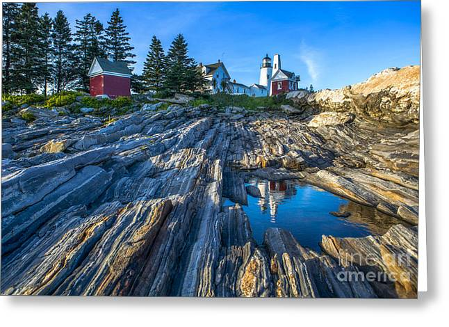 Pemaquid Point Lighthouse Maine Greeting Card by Diane Diederich