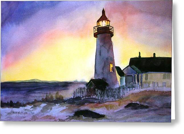 Pemaquid Point Lighthouse Maine Greeting Card by Larry Hamilton