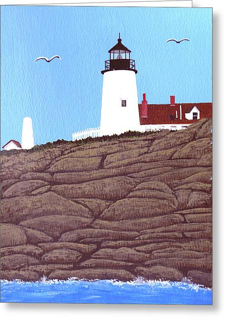 Pemaquid Point Lighthouse Painting Greeting Card by Frederic Kohli