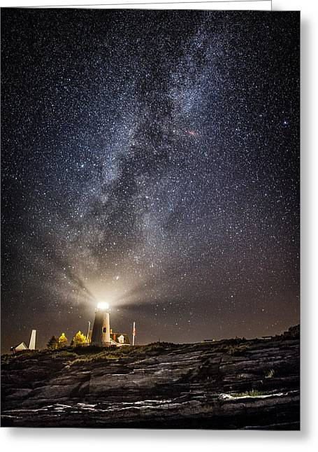 Pemaquid Point Milky Way Greeting Card