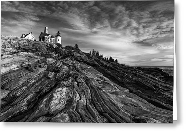 Pemaquid Point Mono Greeting Card
