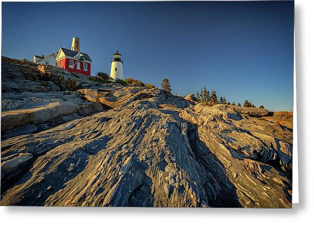 Pemaquid Point Greeting Card by Rick Berk