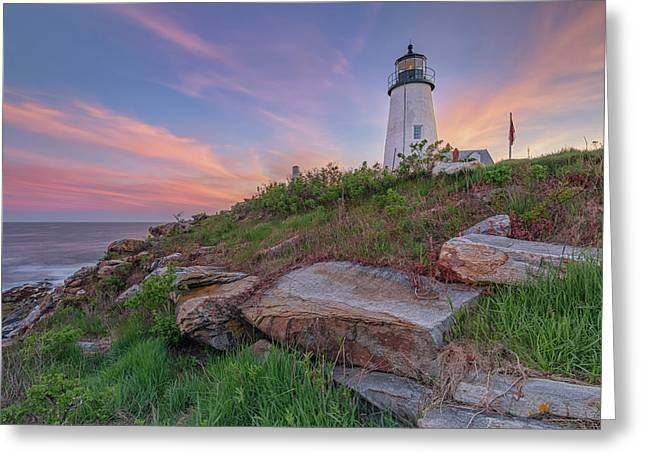 Pemaquid Point Sunset Greeting Card