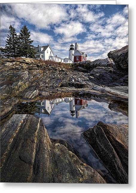 Greeting Card featuring the photograph Pemaquid Reflected by Jaki Miller