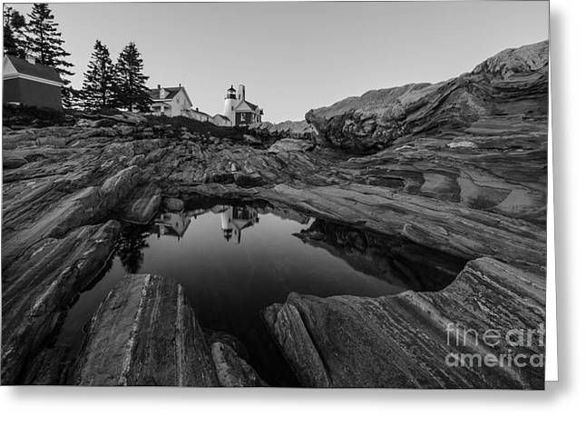 Pemaquid Reflecting Greeting Card by Paul Noble