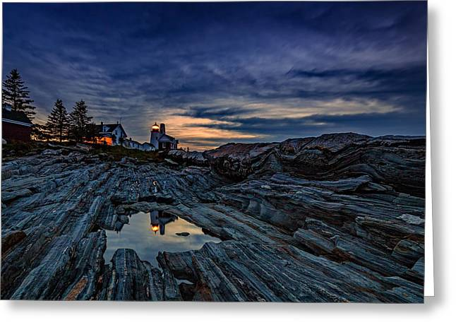 Pemaquid Reflections Greeting Card by Rick Berk