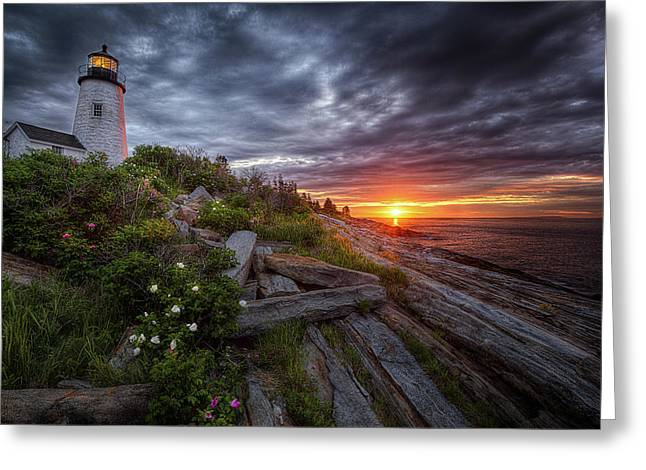 Pemaquid Sunrise Greeting Card