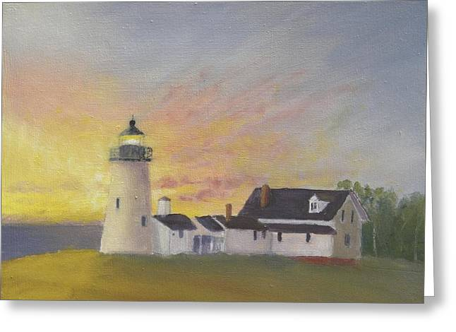 Pemaquid's First Light Greeting Card
