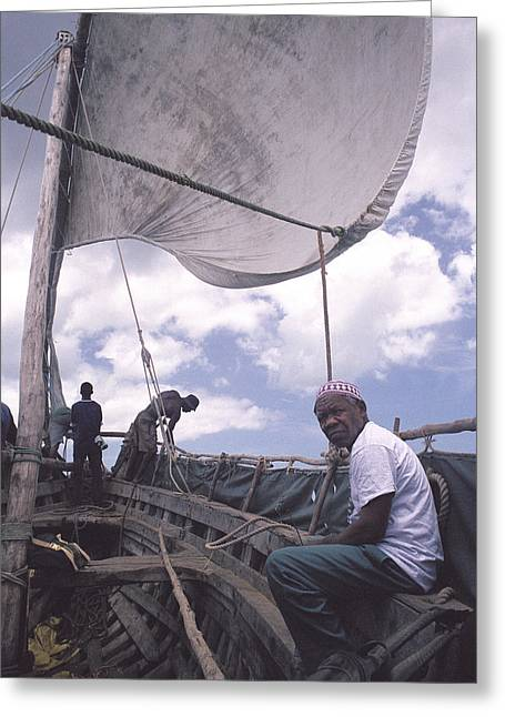 Pemba Boat Greeting Card by Marcus Best