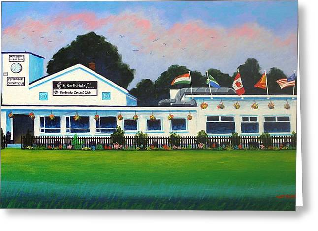Pembroke Cricket Club - Dublin Greeting Card by John  Nolan