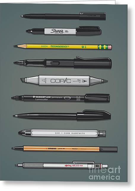 Pen Collection For Sketching And Drawing II Greeting Card