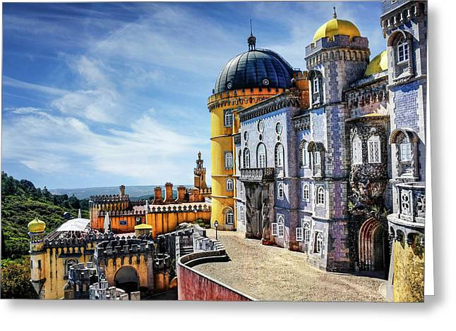 Greeting Card featuring the photograph Pena Palace In Sintra Portugal  by Carol Japp
