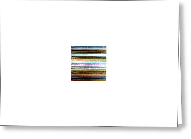 Pencil Lines Two Greeting Card by Stan  Magnan