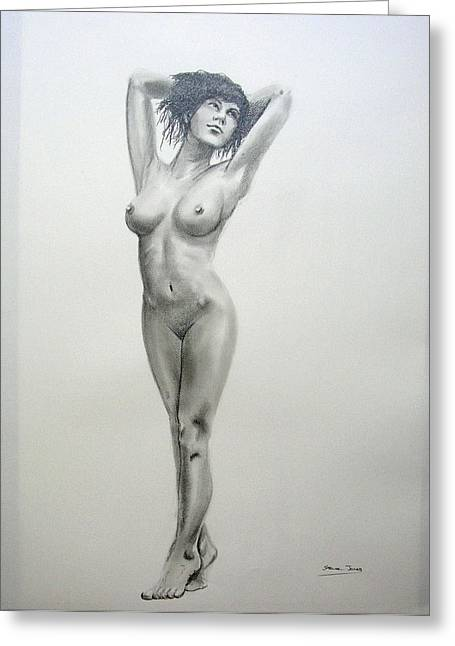 Pencil Nude 14 Greeting Card