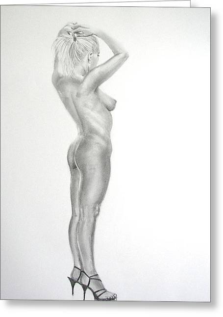 Pencil Nude 16 Greeting Card