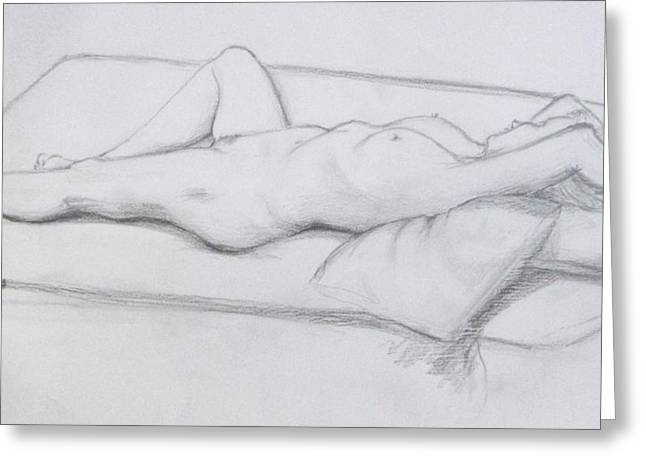 Greeting Card featuring the drawing Pencil Sketch 1.2011 by Mira Cooke