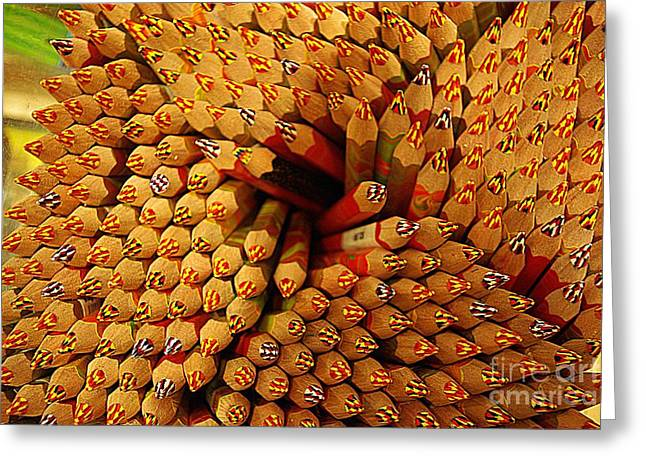 Pencils Pencils Everywhere Pencils Get The Point...lol Greeting Card by John S